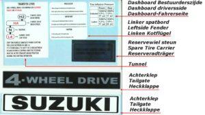 Suzuki Lj80, Suzuki LJ 80 , Eljot , TROA metal Body Panels CO